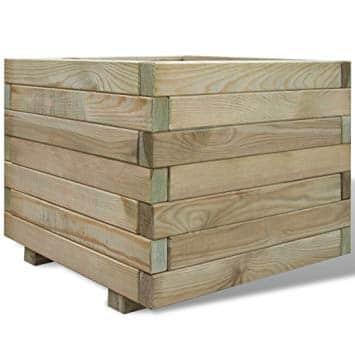 cache pot en bois