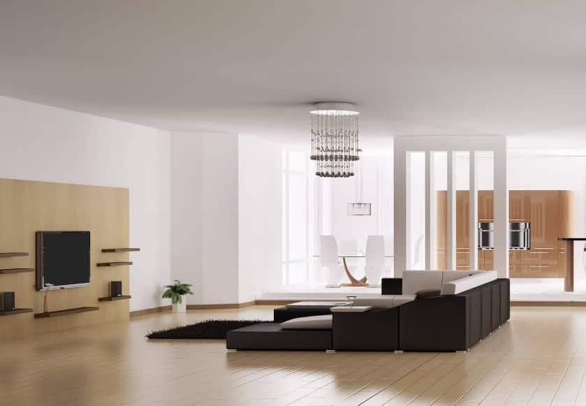Séjour Design Avec Canapé Et Télé